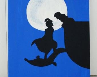 Aladdin Acrylic Canvas Painting