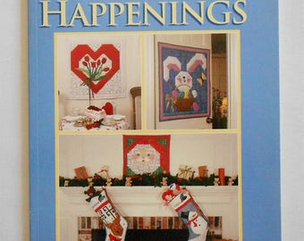 Holiday Happenings/variation of log cabin/Cristal Carter/christmas/easter/halloween/placemats/wall hangings-Book-That Patchwork Place(#1458)