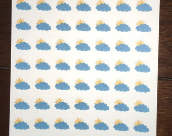 Partly Cloudy Weather Stickers