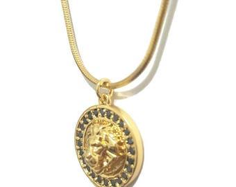 3D Lion head necklace