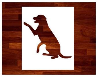 Custom Stencils - Labrador Retriever Dog Custom Stencil