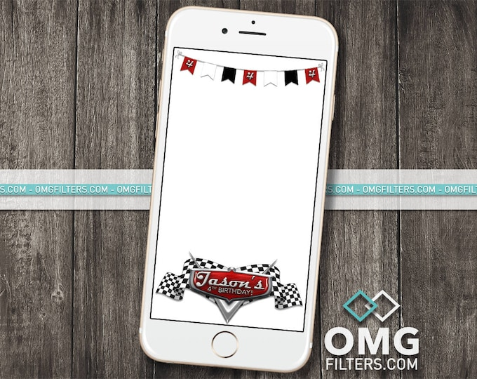 Race Cars Party - Custom Snapchat Filter - Any Age!