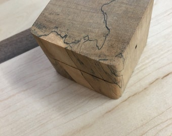 Spalted maple ring box