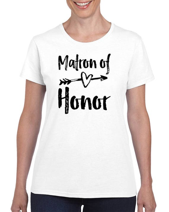 Matron Of Honor Wedding - Matron Of Honor Gifts. Matron of Honor Shirt. Bachelorette Party Shirts. Wedding Party Tees. Matron of Honor Gift.