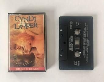 Vintage Cyndi Lauper True Colors Cassette Tape 80s Music 1986