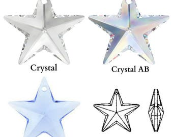 Swarovski Crystal 6714 Star Pendant 20mm All Colours