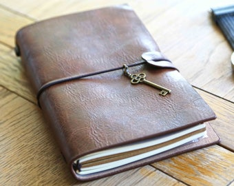 Handmade Real Leather Notebook, Leather Notebook, Writers Notebook, , Husband Gift, Rustic Journal, Rustic Notebook, Sketchbook, Brown Book