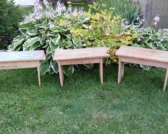 Reclaimed barnwood benches