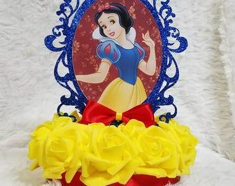 Snow White Centerpiece/ Snow White Cupcake Topper/ Snow White Theme/ Disney  Princess/