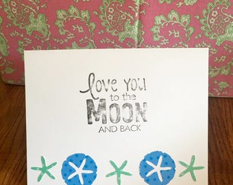 Love You To The Moon And Back Stationery
