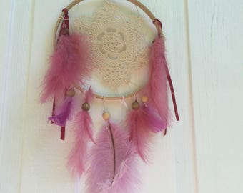Cream and mauve dreamcatcher