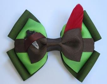 Peter Pan Inspired Disney Hair Bow
