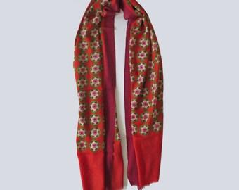 Printed scarf 100% Wool
