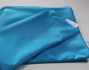 Pattern solid aqua: bags snack, sandwich bags, washable, reusable, eco-friendly, minimalist