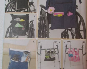 Simplicity Pattern 2822 Accessories, bags for wheelchair, walker and lounge chair