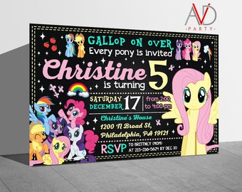 My Little Pony Birthday Invitation, My Little Pony Birthday, My Little Pony Invitation, My Little Pony Party, Fluttershy