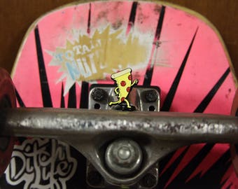Box Palm Skate slice lapel pin