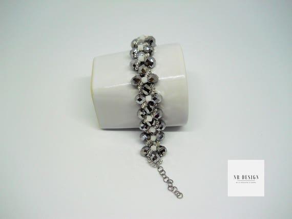 Handmade bracelet swarovski and bohemian crystal