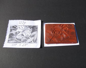 "Foam Mounted Rubber Stamp Lily Flower Easter Spring 3.4"" x 2.4"""