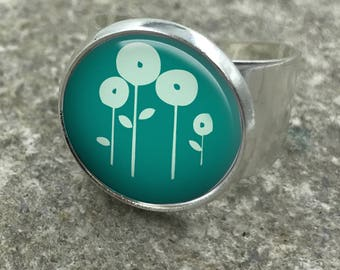 Dandelion Ring, Dandelion Jewellery, dandelion jewelry, dandelions, dandelion seeds, flower gifts, gift for wife, Gift for Her| 40