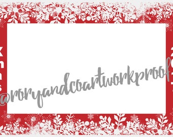 Christmas Photo Frame - use as a prop for  for birthdays, engagements, photo shoots, Christmas, new years, parties