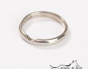 Chubbie  Light Wedding Ring with Bite Out. John Fox