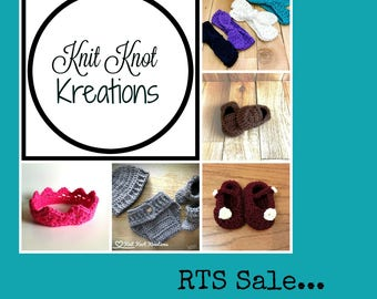 Ready to Ship Sale - Baby Booties, Baby Shoes, Baby Hats, Baby Headbands, Crochet Baby, Crochet Hats, Crochets Booties, Newborn Gift, Baby