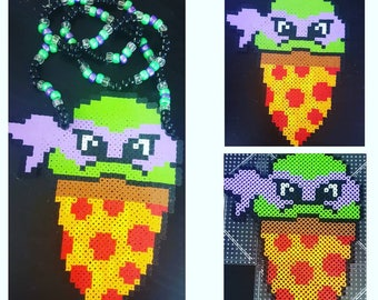 Donatello Perler Kandi Necklace