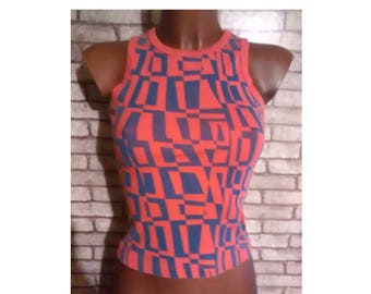 pop top, asimetric top, camiseta pop asimétrica, halter tank top