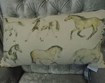 Voyage Maison Galoping Horses Cushion from the natural history collection. 55cm x 30cm Code: C120369
