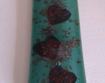 Pendant, lovely glass pendant. Jade green. Handmade. Gift for her.