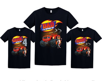 Blaze Birthday Shirt, Blaze and the Monster Machines Custom Shirt, Personalized Blaze Shirt, Blaze family shirts, Birthday t-shirt