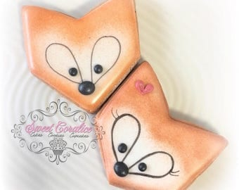 Fox Custom Decorated Cookies