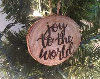 Joy to the World- Hand-Painted Ornament