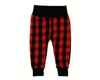 baby leggings | baby pants | toddler pants | toddler leggings | Buffalo plaid pants | Buffalo plaid leggings | lumberjack baby | baby gift