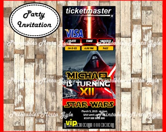 Star Wars Invitation, printable Star Wars Birthday Invitation, Star Wars invitation