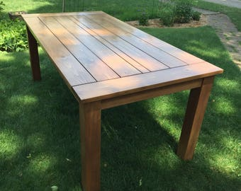 Outdoor Dining Table Outdoor Table Cedar Table Deck Table 3' x 6' Table 6 Person Outdoor Table Custom Table Patio Table Wood Table