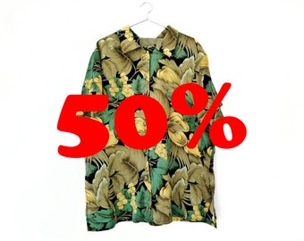 HAWAIIAN SHIRT / / vintage clothing / / unisex / / oversized / / summer / / tropical / / vintage / / shirt vintage / / beach
