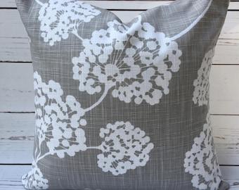 Unique ~ Dandelions ~ Flower ~ Grey Floral 14x14 Pillow Cover ~ Gray ~ Accent Pillow Cover