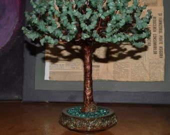 Gemstone Wire Tree Sculpture, Wire tree