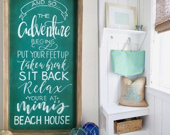 Beach Sign, Lake Sign, Beach House Sign, Lake House Sign, Vacation Home Sign, Beach House Decor, Beach Decor, Housewarming Gift