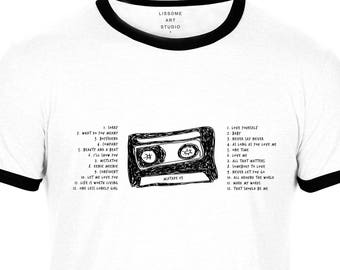 Mixtape T-Shirt JUSTIN BIEBER by Lissome Art Studio