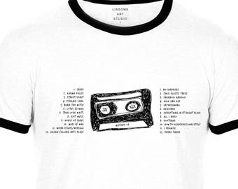 Mixtape T-Shirt RADIOHEAD by Lissome Art Studio
