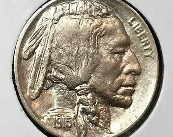 1915 P Buffalo Nickel - Choice BU / MS / Unc