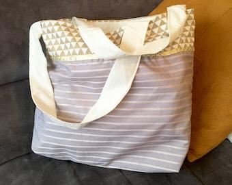 SENDING quick big tote bag Beige tote bag pattern
