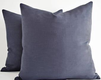 All Size CUSTOM MADE 20 22 Solid Gray Grey linen pillow,  Grey linen pillow, Linen Throw Pillows, Linen Pillow Case, Linen pillow shams