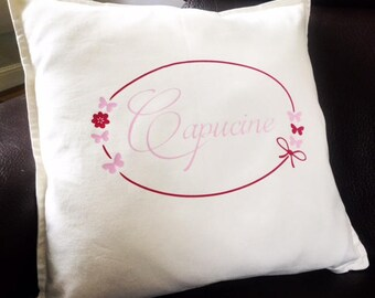 Pillow cover custom order for only child's room.