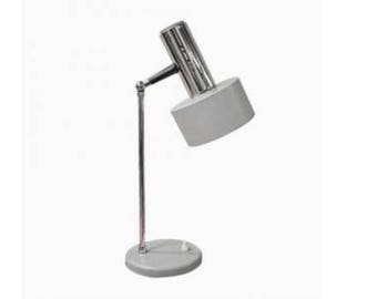 Vintage Mid-Century desk Lamp, 1970's - Light grey desk lamp - Antique Table Lamp - Vintage Lighting - Design Table Lamps - Industrial lamp