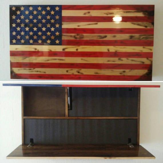 Flag Gun Concealment Cabinet