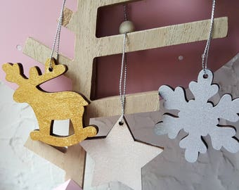 Set of 3 Christmas ornaments